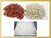 北海道産小豆、大手亡豆、白双糖(はくざらとう=ザラメ)を使用。